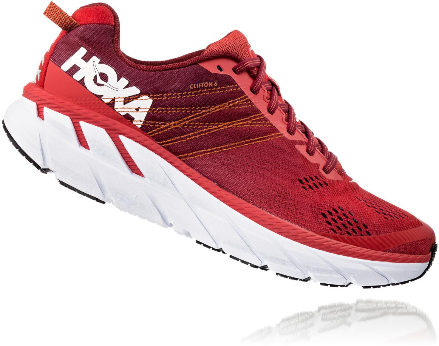 Hoka One One Clifton 6 Zapatillas Running Hombre, poppy redrio red